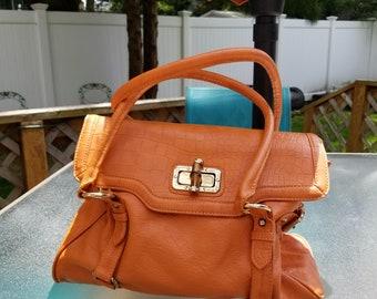 717989ca187 Vintage Aldo Top Handle Shoulder Bag Tangerine Mint Condition Vegan Free  Shipping