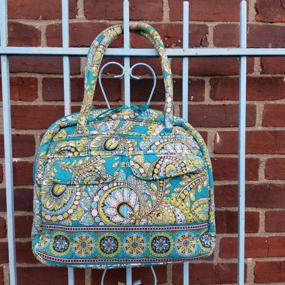 Vera Bradley Retired Peacock Handbag Shoulder Bag