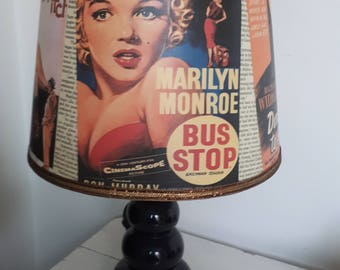 Medium Marilyn Monroe Vintage Film Poster Lampshade - Lamp Shade for Base or Ceiling