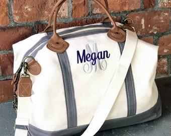 e5d4bf5fe567 Monogram Weekender Bag Monogram Overnight Bag Travel Bag Personalized  Luggage Monogram Duffle Bag Canvas Weekender Bag Canvas Bags