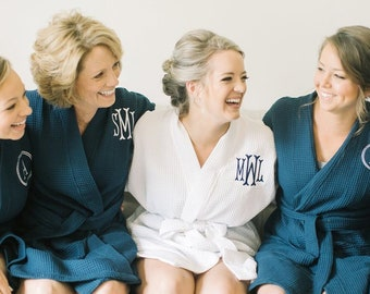 ba6c5af92d BEST QUALITY Personalized Robes Bridal Party Robe Bridesmaid Robe Set  Getting Ready Robes Kimono Robes Waffle Weave Robes For Bridesmaids