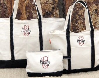 Zippered Tote Bag   Bridal Party Totes   Bridesmaid Tote Bag   Custom Tote  Bag   Monogram Tote Bag   Personalized Tote Bag   Canvas Tote 66f4d27f20