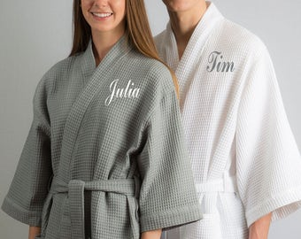 Honeymoon Robes Couples Spa Robes Couples Gift Bride and Groom Gift Mr and  Mrs Robes Cotton Anniversary Gift His and Her Robes Personalized d57500943