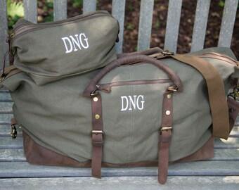 e8d6e6ddd23df2 Duffel Bag Dopp Kit Groomsmen Gift Duffle Bag Weekender Bags Mens Duffel  Bags Canvas Duffel Bag Groomsman Gift Overnight Bag Carry On Bag
