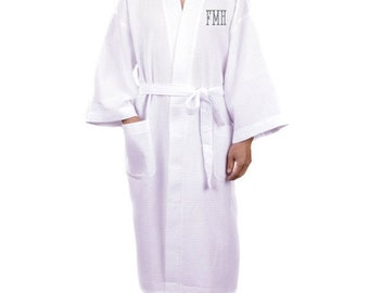 7dae541780 Monogram Mens Robes Groomsmen Robe Mens Bathrobe Mens Cotton Robe Mens  Kimono Mens Waffle Robe Wedding Robe Groom Robe Mens Spa Robe