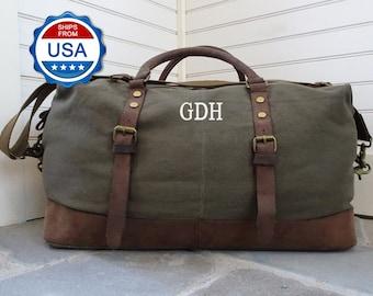 af0209c2680903 Travel Bag Weekender Duffel Bag For Men Custom Canvas Duffel Bag Leather Duffel  Bag Mens Weekend Bag Canvas Weekender Bag Gifts For Best Man