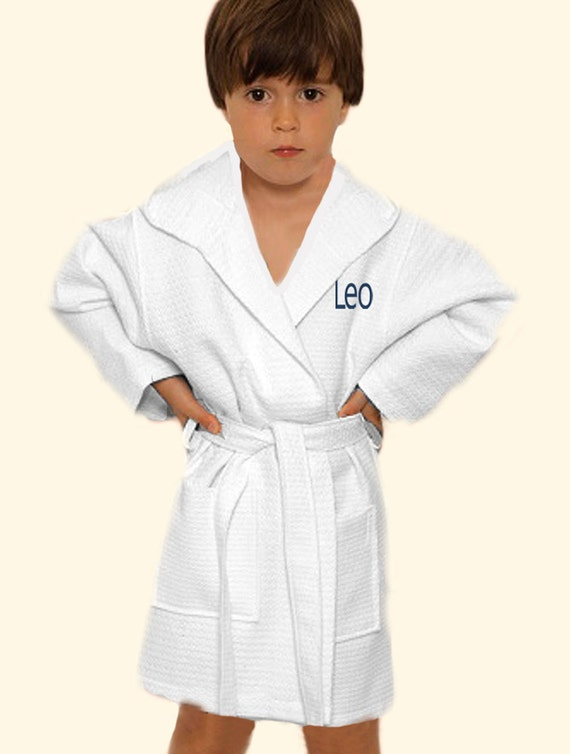 b630f1f830 Monogrammed Boys Robe Ring Bearer Gift Personalized Robe For