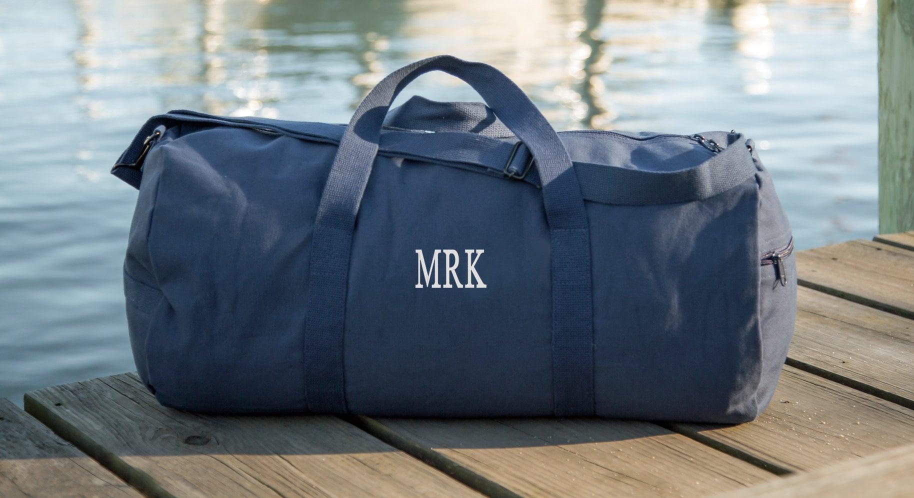 c111f264ff73 Canvas Duffel Bag Mens Weekender Bag Mens Duffel Bag Gym Bag