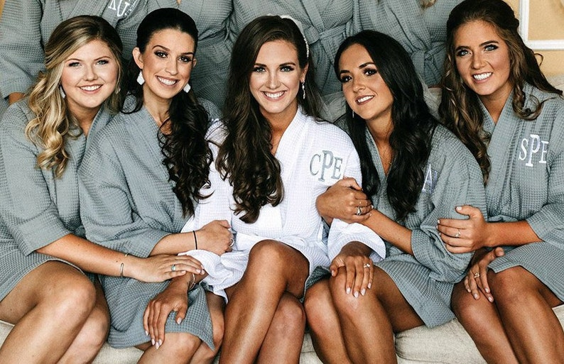 Bridesmaid Robes Bridal Party Robes Cotton Robes Personalized  910012d85