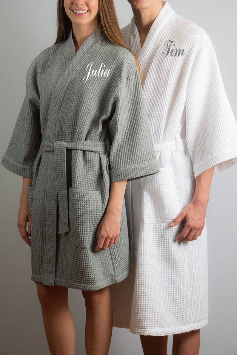 Honeymoon Robes Couples Spa Robes Couples Gift Bride and Groom  5f8d06a68