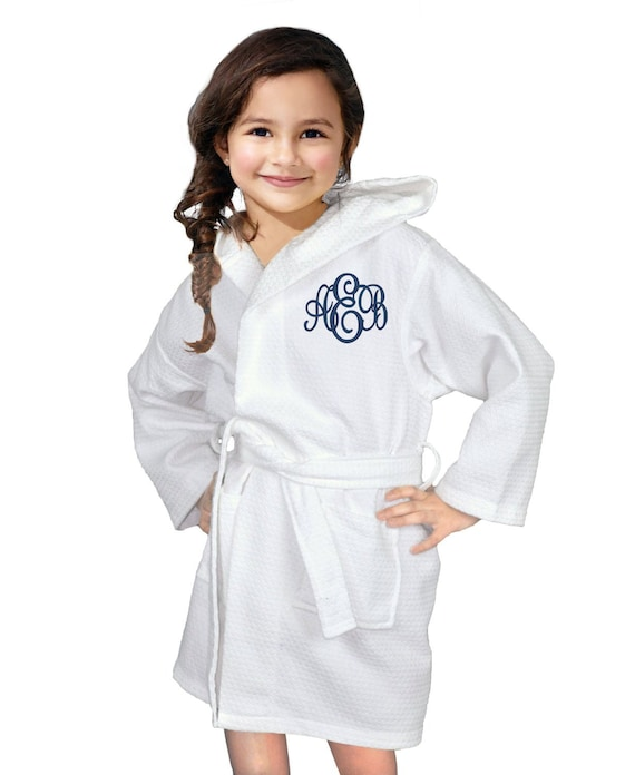 1cc3ae4321 Childrens Robe Flower Girl Gift Spa Party Robe Cotton Robe