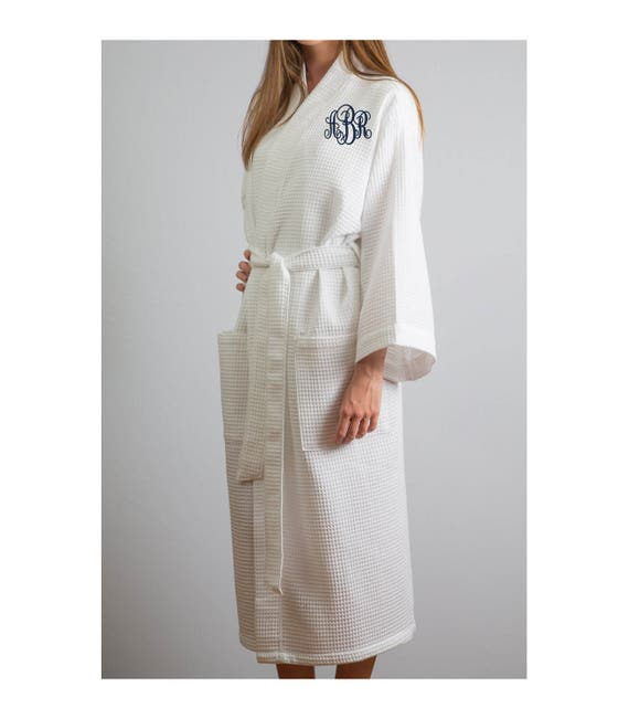 37af9a95d3 Full Length Waffle Robe Personalized Robes Waffle Weave Robes