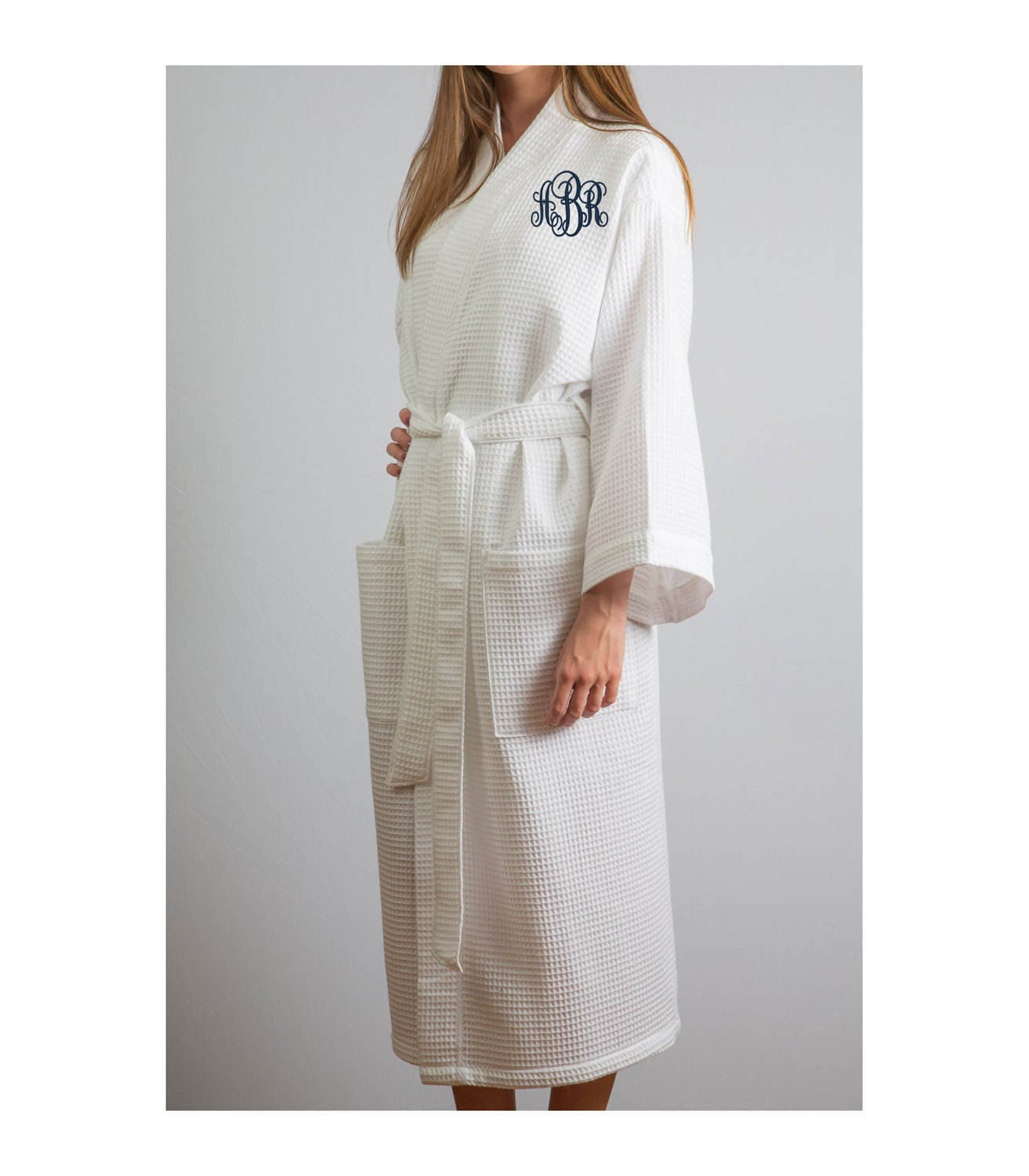 Customizable monogrammed spa robe from Monogram Works.