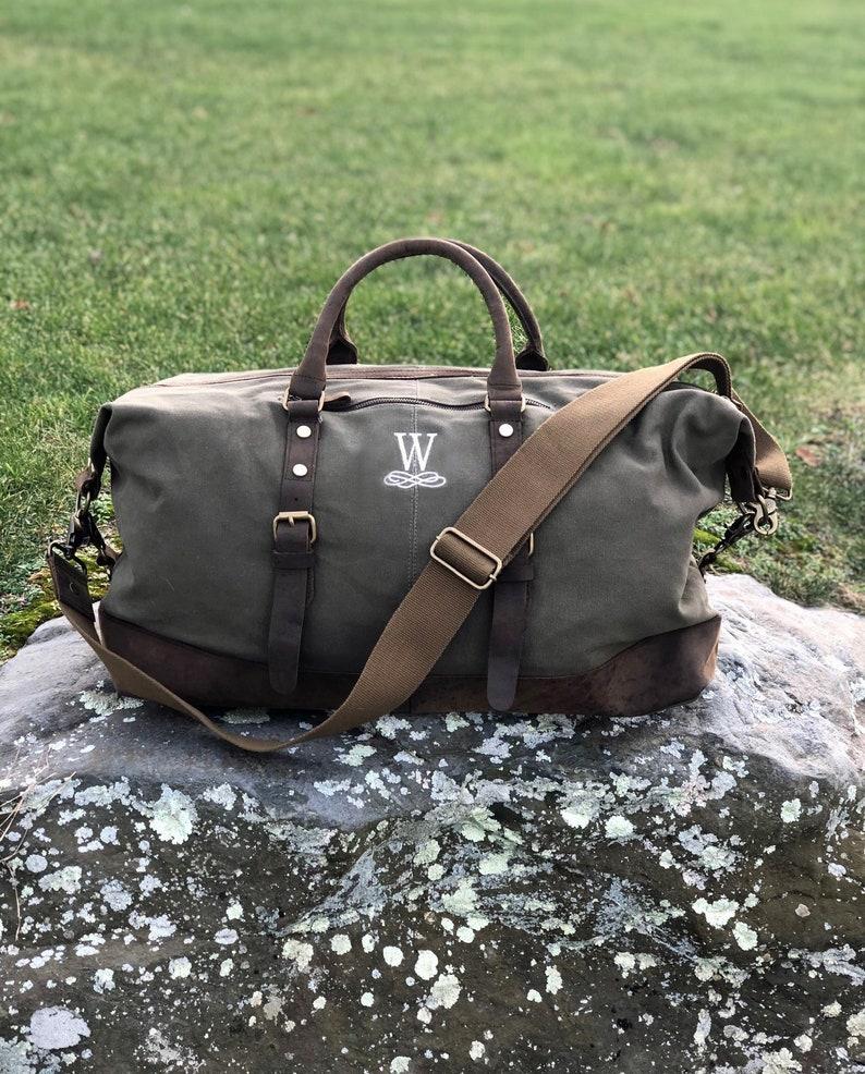 425bc5bdd0 Travel Bag Weekender Duffel Bag For Men Custom Canvas Duffel