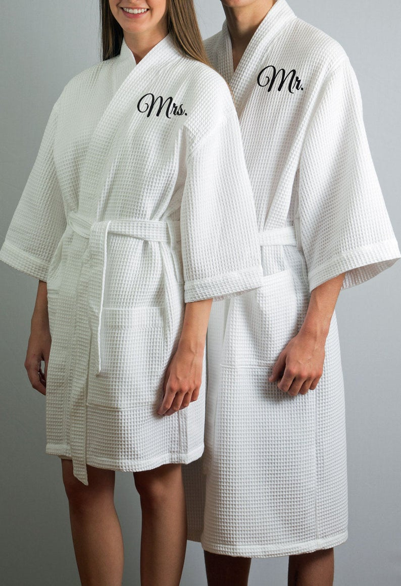Set of 2 Robes Mr and Mrs Robes Anniversary Gift Wedding Gift  2fc1f6786