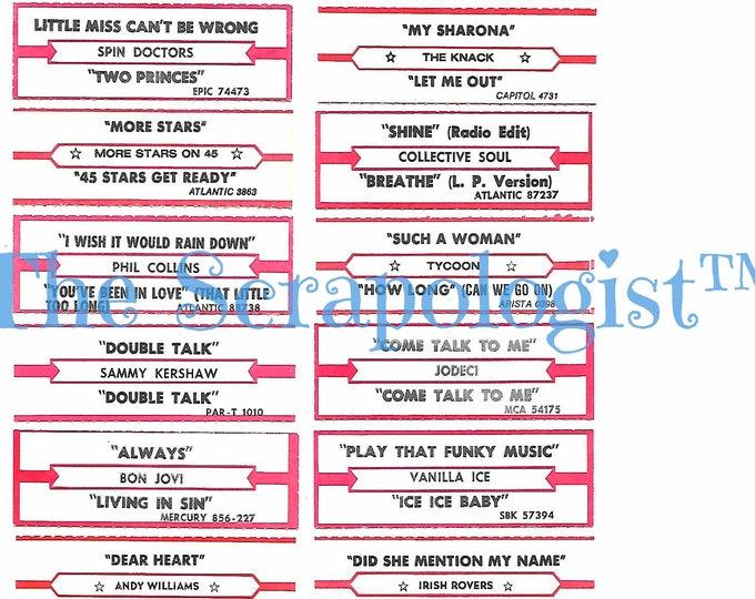 Jukebox Title Strips, Digital Download, Ephemera