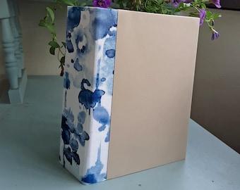 Scrapbook Album Kit, Mini Album Kit, Blue Watercolor Spine, You Decorate it