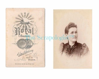 Vintage Cabinet Card from the 1800s / Junk Journal Pages