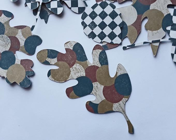 Fall Ephemera, Die-cut Leaves, Ephemera for junk Journals and collage