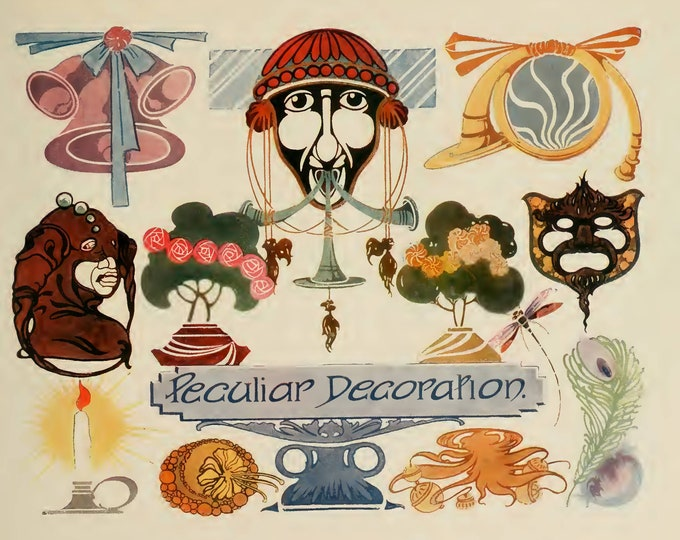 Peculiar Decorations Kit, Strong's Book of Designs - Part 4, Junk Journal Ideas, Digital Download