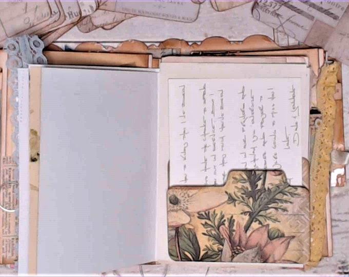 Mini File Folders, Tim Holtz paper, Junk Journal Ephemera, Set of 16