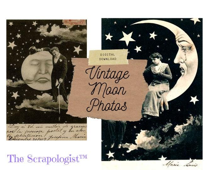 Vintage Moon Photos, Digital Download