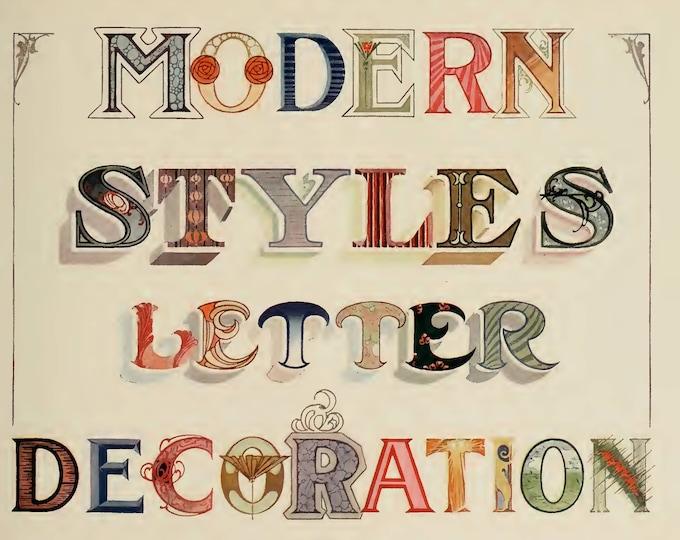 Modern Letters, Strong's Book of Designs - Part 2, Junk Journal Ideas, Digital Download