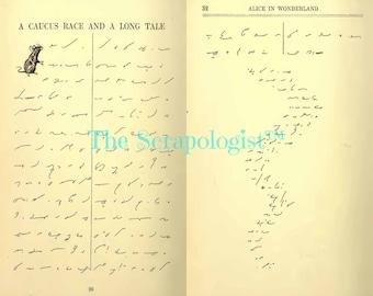 Alice's Adventures in Shorthand Digital Kit, Junk Journal Kit, Collage Kit