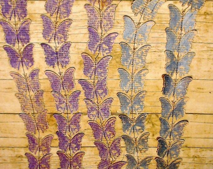Butterfly Garland   Junk Journal Ephemera   Ephemera Lot