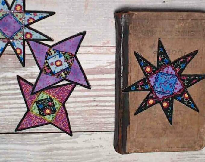 Hand Beaded Stars, Junk Journal Ephemera Pack, Set of 4