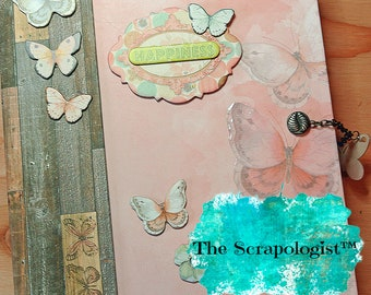 Butterfly Theme Scrapbook, Mini Album, Baby Girl Gift