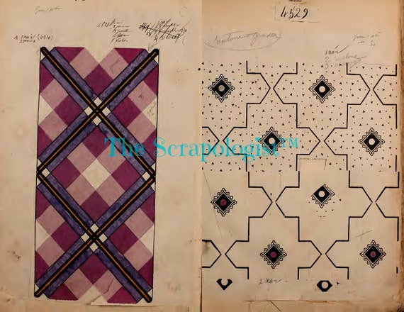 photograph about Printable Textiles named French Textiles Pattern Ebook, Printable, Magazine Package