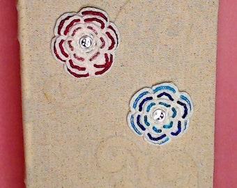 Beaded Crochet Junk Journal Flowers, Set of 2