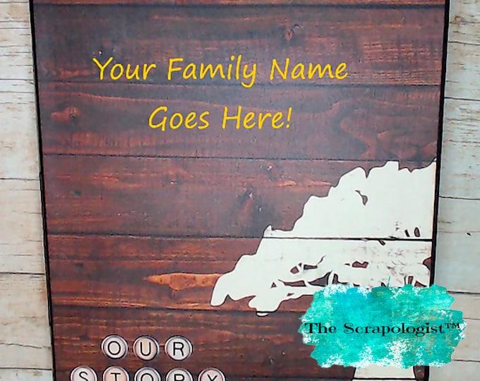 Family Tree Scrapbook, Mini album - Your Name on Cover