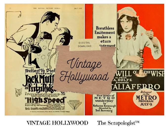 Vintage Hollywood Junk Journal Kit, Digital print