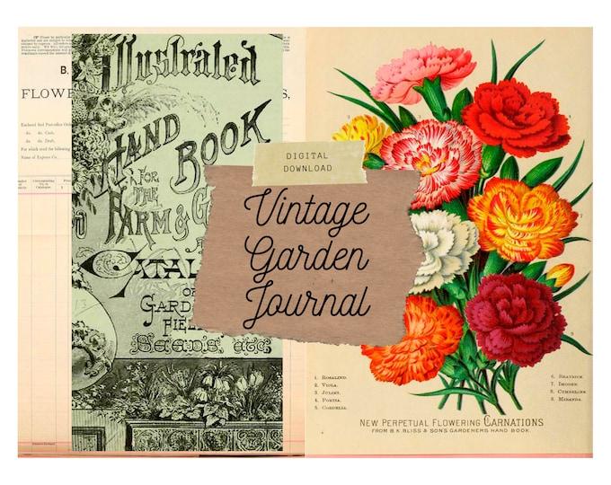 Vintage Garden Planner | Junk Journal Kit | Digital Print