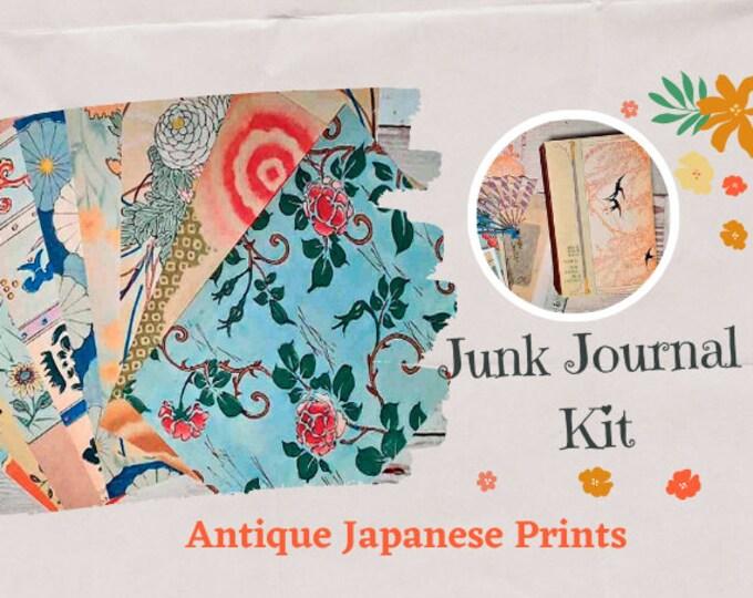 Junk Journal Ephemera Pack   Japanese Florals   Collage Kit