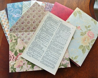 Shakespeare Vintage Book Pages in a Handmade Envelopes | Junk Journal Supplies