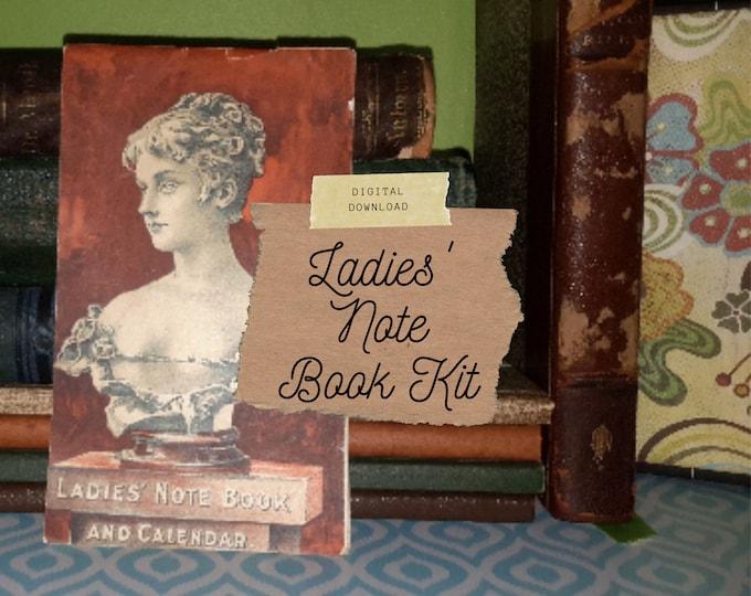 Vintage Calendar, Ladies Notebook, Junk Journal Kit | Digital Print