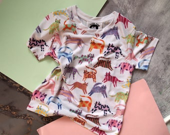 Colourful cats kids t-shirt