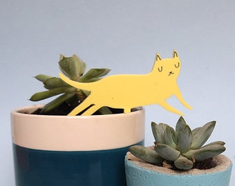 Cat Plant accessory - Cat Cake topper - Laser cut cat - I like Cats - Cats - Cat gifts - Acrylic cat - Plant accessories - Cake Topper