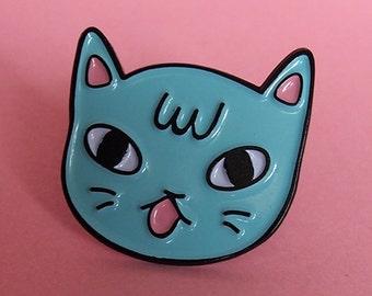 Sassy Cat enamel lapel pin - Cat pin - Enamel pin - Enamel cat pin - I like cats - Cat lapel pin - Cat jewellery - Cat gifts - Cats - Cat