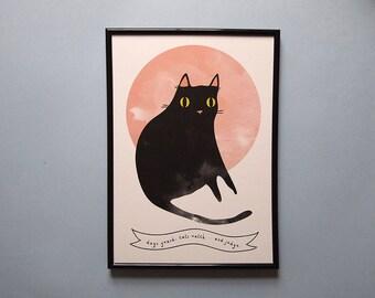 Image result for black cat illustration
