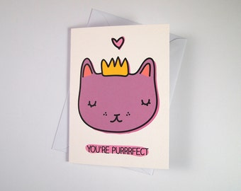 Cat Mother's Day card -  I like Cats - cat card - Cat puns - Funny cat card -  mother's day - romantic cat card - cats - Love