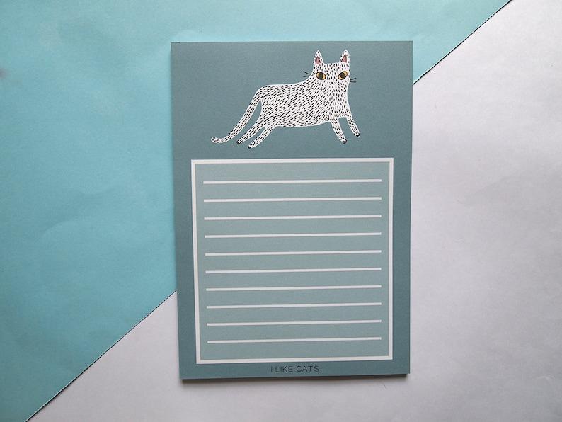 Cat NotePad Cat notebook I like cats Notebook Cat book paper Cats Notepad Cat List Pad Lists Cats