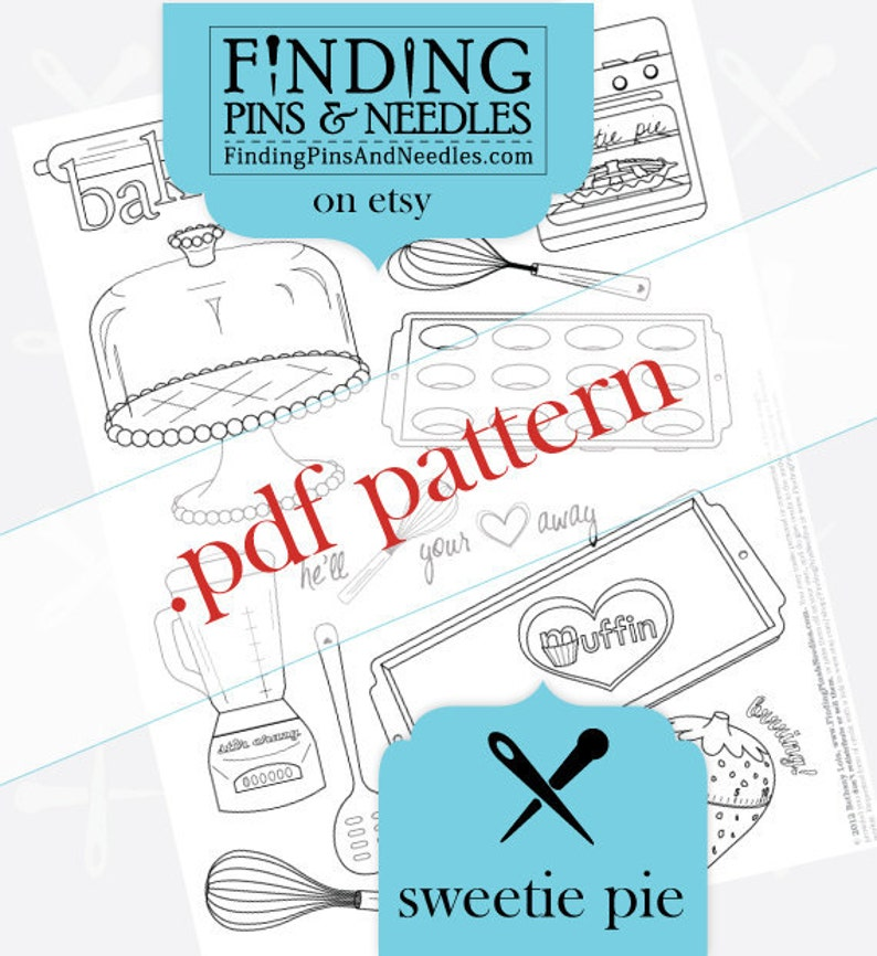 Sweetie Pie Hand Embroidery pdf Pattern image 0