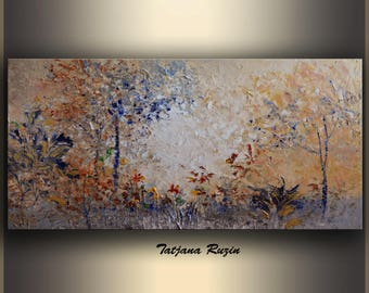 Original Oil Painting, stretched canvas, Large Wall Art, Abstract Landscape Painting, Art Painting, Original Artwork, palette knife