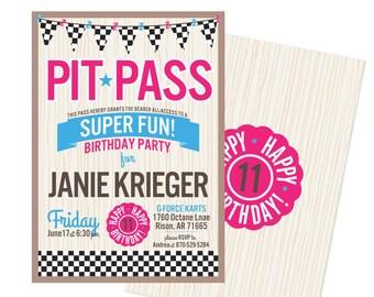 Go kart birthday Etsy