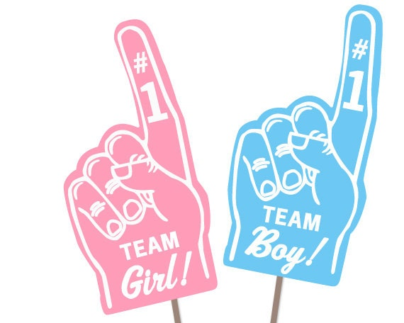 Team Girl Team Boy Photo Booth Props Gender Reveal Baby Etsy
