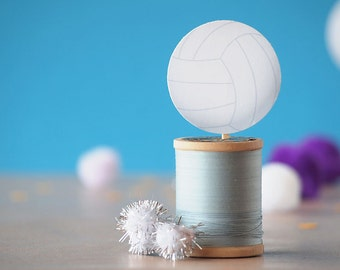 Volleyball Cupcake Toppers - INSTANT DOWNLOAD PRINTABLE